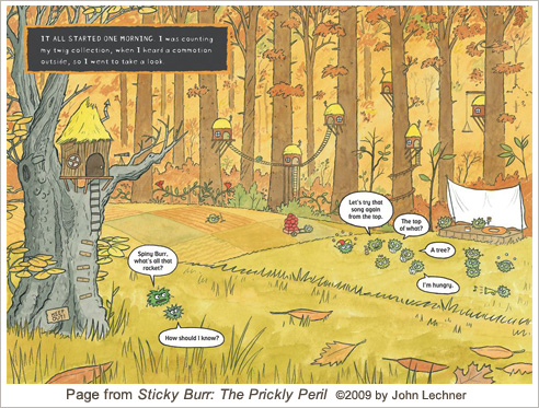 Illustration from Sticky Burr: The Prickly Peril