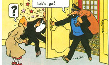 Illustration from Tintin