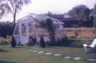 The Waldens' greenhouse